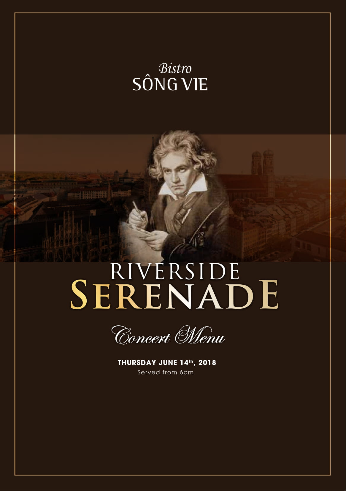serenade concert menu at Bistro Song Vie - Villa Song Saigon